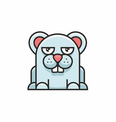 cute mouse icon on white background vector image