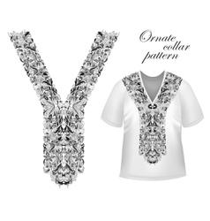 Design for collar shirts shirts blouses T-shirt vector image vector image