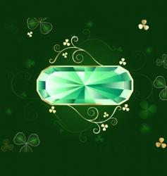 emerald banner vector image vector image