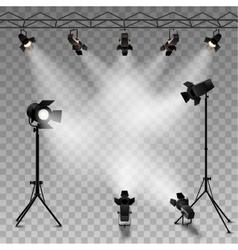 Spotlights Transparent Background vector image