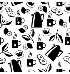 tea breack pattern vector image