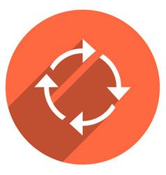 Arrow sign rotation icon circle button vector