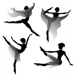 ballet dancers silhouettes vector image