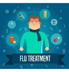 Flu Symptoms Poster vector image