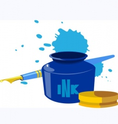 inkpot vector image vector image
