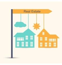 Real estate design concept vector image vector image