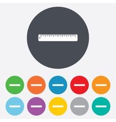 Ruler sign icon School tool symbol vector image