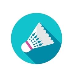 Shuttlecock for badminton sport flat icon vector image