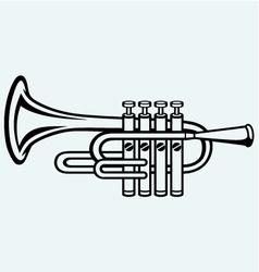 Trumpet musical instrument vector image