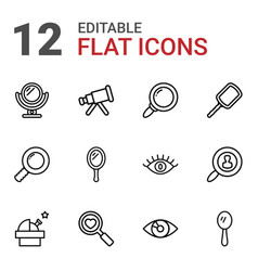 12 look icons vector