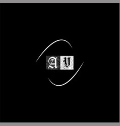 A y letter logo creative design on black color vector