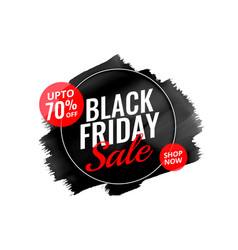 Abstract black friday watercolor banner design vector