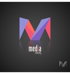Abstract colored logo Play logo Media vector