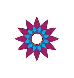 abstract star shape flower image vector image