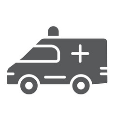 ambulance glyph icon medical and car emergency vector image