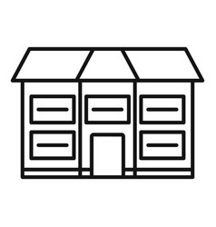 American cottage icon outline style vector