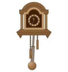 Antiquarian clock with a pendulum vector
