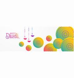 artistic diwali festival background with mandala vector image