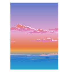 Beautiful poster with the sky above the clouds vector