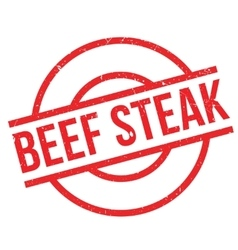 Beef Steak rubber stamp vector image