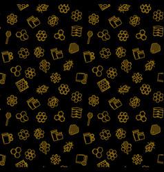 beekeeping dark seamless pattern or vector image