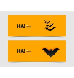 Black bats paper cut out from the background vector