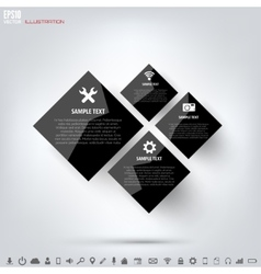 Black cloud computing background with web icons vector