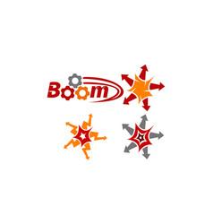 boom quick marketing set vector image