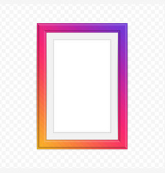 bright photo frame vector image
