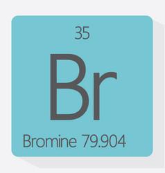 bromine vector image
