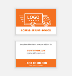 business card template delivery service vector image