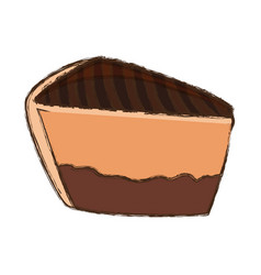 Cake sliced dessert vector
