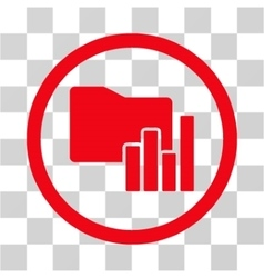 Charts Folder Flat Rounded Icon vector