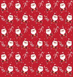 Christmas pattern santaclaus vector