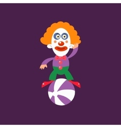 Clown Balancing On Ball vector image