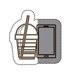 coffee espresso technology communication icon vector image