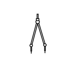 compass draw premium icon vector image