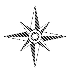 Compass sign on white vector