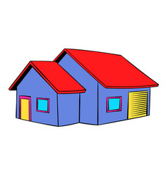 Cottage icon icon cartoon vector