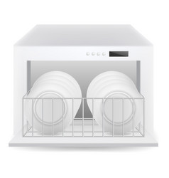 Dishwasher icon realistic style vector