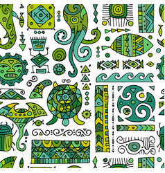 ethnic handmade ornament for your design vector image