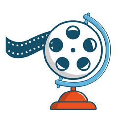 film reel icon cartoon style vector image