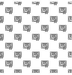 finance diploma pattern seamless vector image