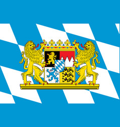 Flag of bavaria in germany vector