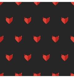 flat devil heart seamless pattern vector image