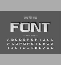 font paper cut and bold alphabet script design vector image