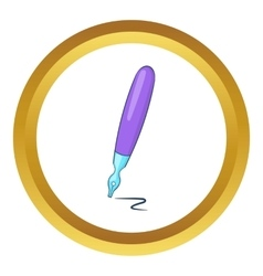 Fountain pen icon vector image