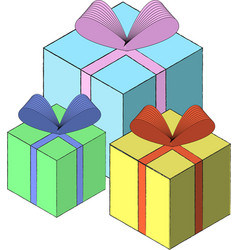 gift box isometric template eps10 vector image