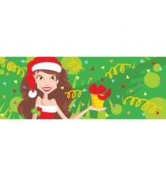 Girl with present vector