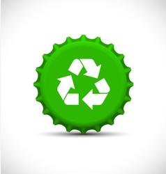 Green bottle tops vector image